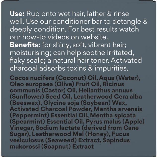 Voodoo Activated Charcoal & Honey Shampoo Bar (Minty Fresh)